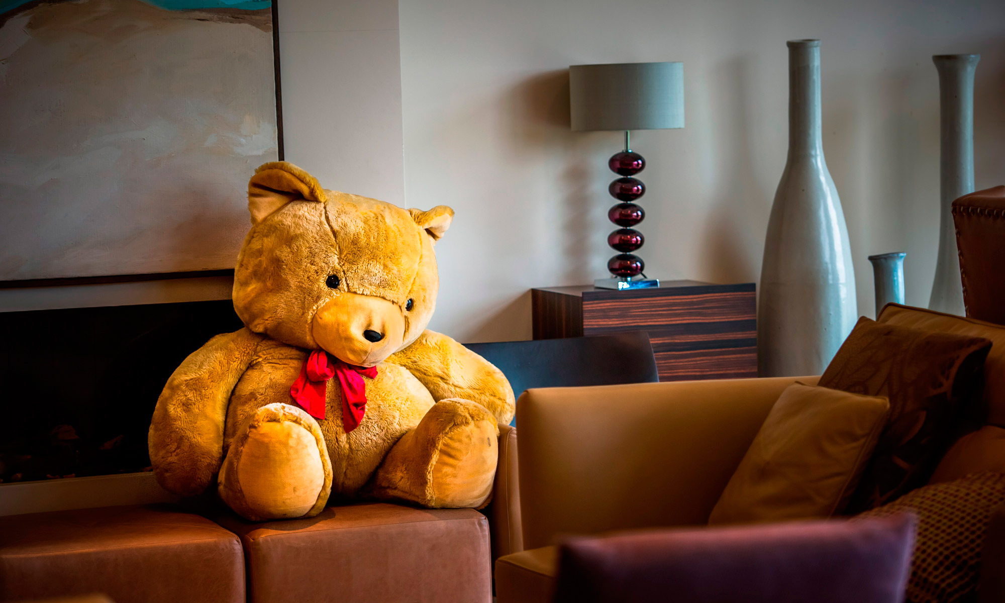 Teddy bear at The Shire London