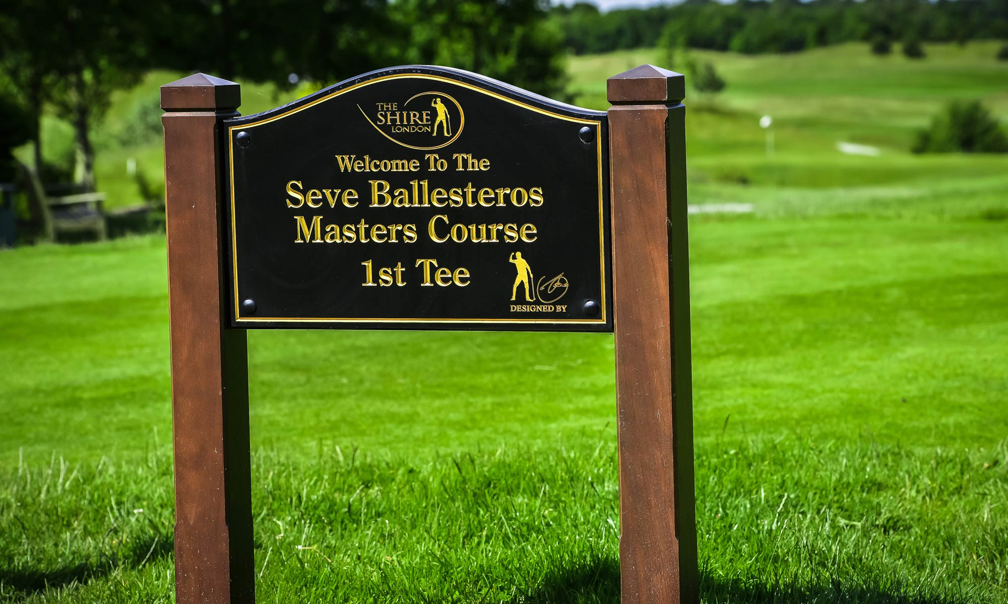 1st tee sign