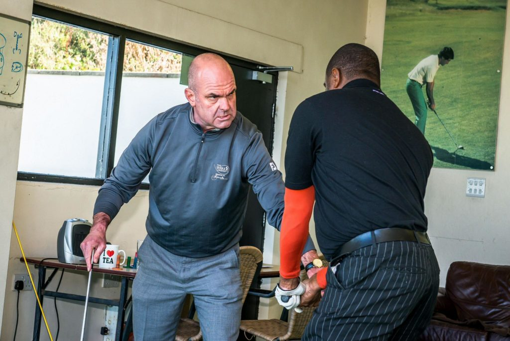 Lee Cox, World Long Driving coach at The Shire London Golf Club.